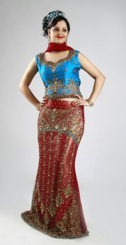 Fish cut Lehenga choli at Choice Sarees